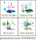 Astromony and Chemistry Set Vector Illustration 44496502