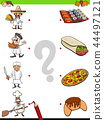 match chefs and food educational game 44497121