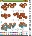 maths addition educational game with candies 44497129