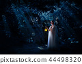 Elf girl in night forest version 44498320