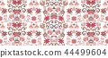 Striped seamless pattern. Floral wallpaper. Colorful ornamental border 44499604