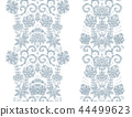 Hand drawseamless borders. Vector set with abstract floral elements in indian style 44499623