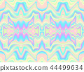 Holographic waves seamless pattern. Vector illustration 44499634
