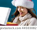 woman, christmas, box 44503082