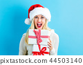 woman, christmas, gift 44503140