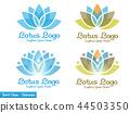 elegant Lotus flower logo 44503350