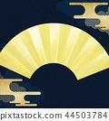 금박, 일본풍 무늬, 부채 44503784