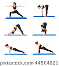 Young asian woman practice yoga pose exercise  44504921