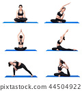 Young asian woman practice yoga pose exercise 44504922