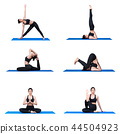 Young asian woman practice yoga pose exercise 44504923