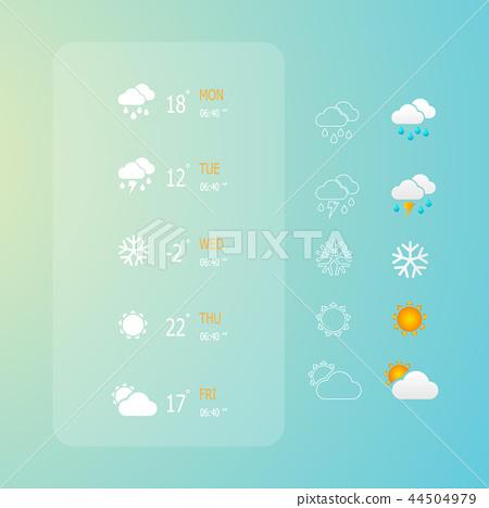 weather web icons set 44504979