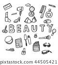 Vector doodle sketch of women beauty concept 44505421