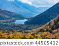 오쿠 닛코 金精峠에서 바라 보는 단풍 湯노湖 · 난타 이산의 산자락 a 44505432