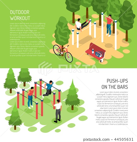 Workout Isometric Banners 44505631