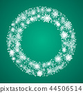 Wreath with Snowflakes. New Year, Christmas Frame. 44506514
