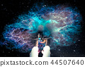 Spaceship travel into the alien fantastic galaxy 44507640
