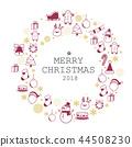 merry christmas icon set 44508230