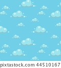pattern seamless sky cloud blue background 44510167