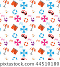 pattern; seamless summer object swimming 44510180