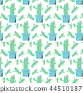 cartoon cactus pattern seamless 44510187