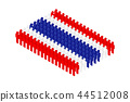 3D Isometric man icon pictogram in row, Thailand  44512008
