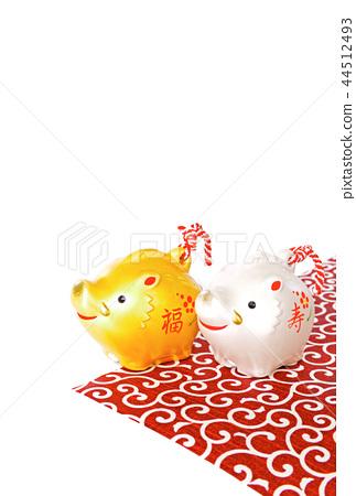 연하장 돼지띠 돼지 멧돼지 멧돼지 44512493