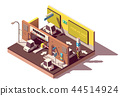 Vector isometric multistorey car parking 44514924