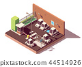 Vector isometric secure car parking 44514926