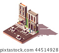 Vector isometric street car parking 44514928