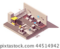 Vector isometric secure car parking 44514942