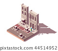 Vector isometric street car parking 44514952