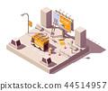 Vector isometric billboard fixing 44514957