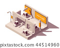 Vector isometric advertising in parking lot 44514960