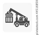 forklift icon black 44516850