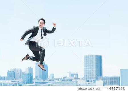跳躍的男人(企業形象) 44517148