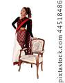 Beautiful East Indian woman standing in a sari 44518486