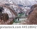 Train in Winter landscape snow 44518642