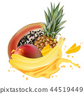 banana fruit papaya 44519449