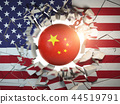 China and USA  tariff war and trade problem 44519791