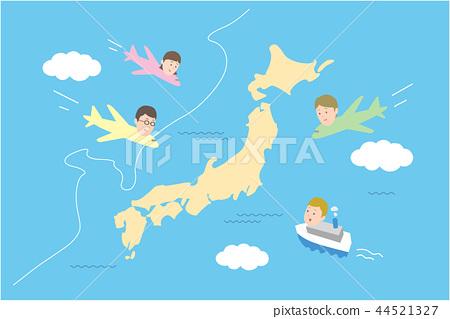 Japan tourism, inbound image 44521327