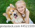 girl and dog 44521509