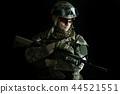 Macro portrait of a military man sniper 44521551