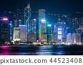 hongkong, hong kong, night scape 44523408