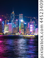 hongkong, hong kong, night scape 44523409
