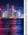 hongkong, hong kong, night scape 44523410