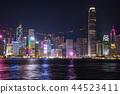 hongkong, hong kong, night scape 44523411