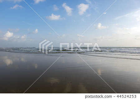 sunrise on the beach background with reflection 44524253