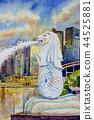 Singapore at the marina, merlion statue. 44525881