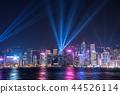 hongkong, hong kong, night scape 44526114