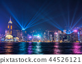 hongkong, hong kong, night scape 44526121